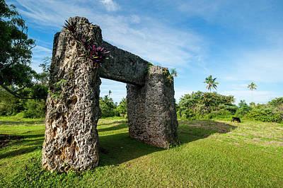 Burden Of Maui, Stone Trilithon Built Poster by Michael Runkel