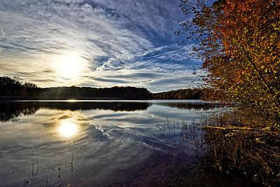 Burke Lake Park - Fall Sunset Poster