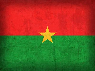 Burkina Faso Flag Vintage Distressed Finish Poster by Design Turnpike