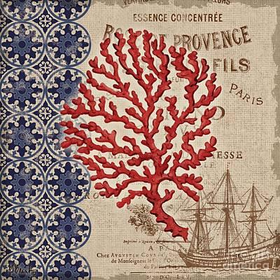 Burlap Coral IIi Poster