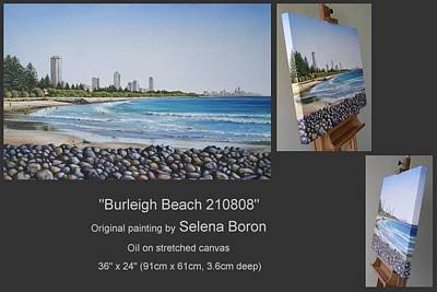 Poster featuring the painting Burleigh Beach 210808 by Selena Boron