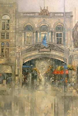 Burlington Arcade Oil On Canvas Poster by Peter Miller