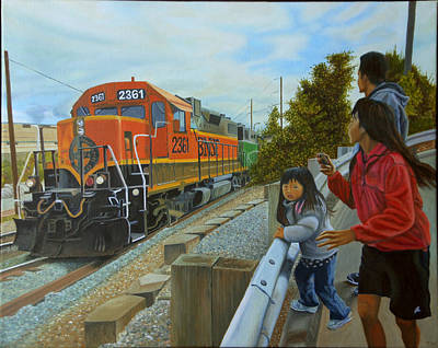 Burlington Northern Santa Fe Poster