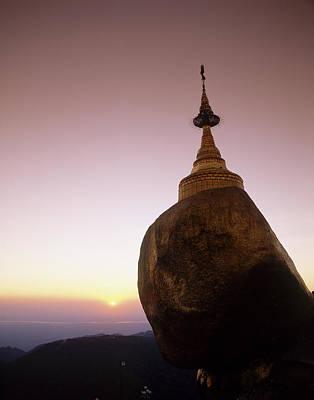 Burma, Myanmar, Kyaikto, Kyaik-tiyo Poster by Tips Images