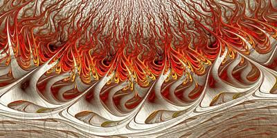 Burning Poster by Anastasiya Malakhova