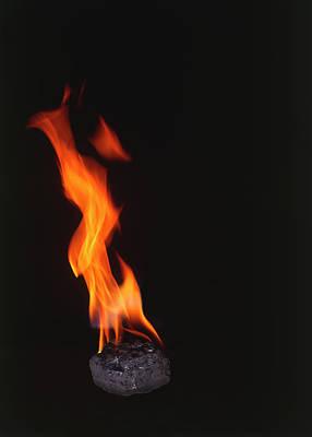 Burning Coal Flame Poster by Dorling Kindersley/uig