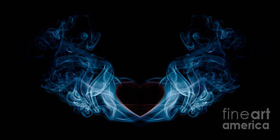 Burning Love Smoke Abstract Poster by Edward Fielding