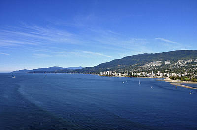 Burrard Inlet Vancouver Poster by Aged Pixel