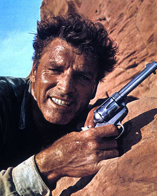Burt Lancaster In The Professionals  Poster by Silver Screen