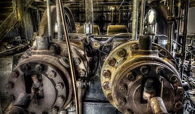 Burton Cotton Gin Bessemer Engine Poster