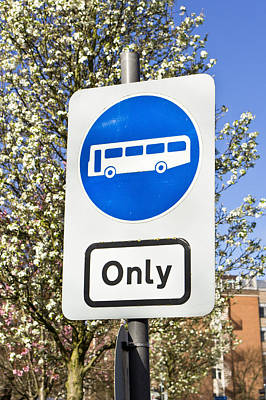 Bus Only Poster by Tom Gowanlock