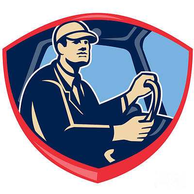 Bus Truck Driver Side Shield Poster