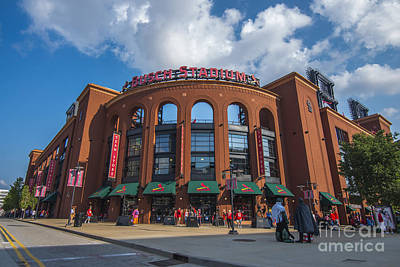 Busch Stadium Clouds Poster