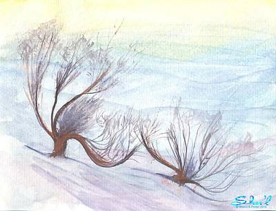Poster featuring the painting Dancing In The Snow by Sherril Porter