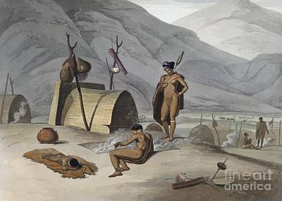 Bushman Camp, Southern Africa, 1800s Poster