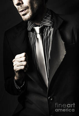 Business Spy In Opulent Modern Suit Poster by Jorgo Photography - Wall Art Gallery