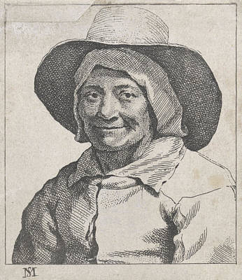 Bust Of A Farmer With Hat, Michael Sweerts Poster by Michael Sweerts