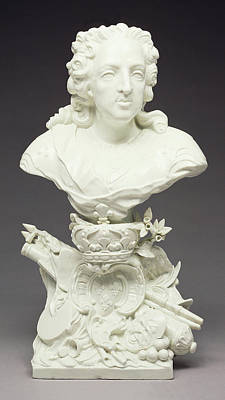 Bust Of Louis Xv Mennecy Porcelain Manufactory Poster