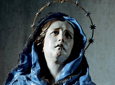 Bust Of Painful Virgin Poster by Francisco Salzillo