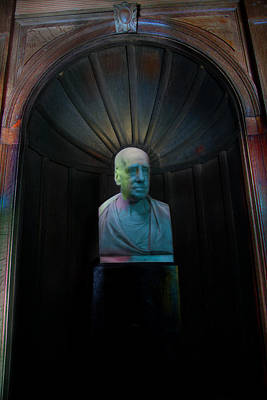 Bust With Coloured Lights Paxton House Poster by Niall McWilliam