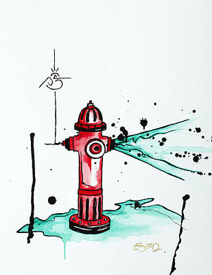 Busted Hydrant Poster
