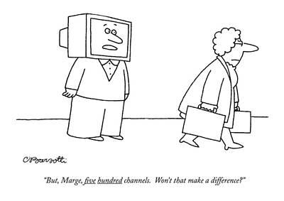 But, Marge, ?ve Hundred Channels. Won't That Make Poster