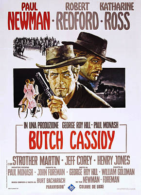 Butch Cassidy And The Sundance Kid, L-r Poster by Everett
