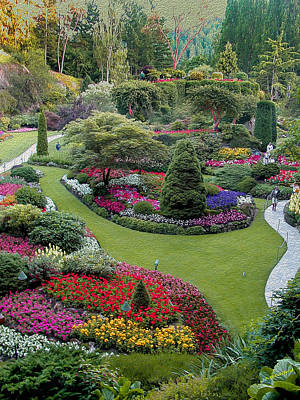 Butchart Gardens Poster by John M Bailey