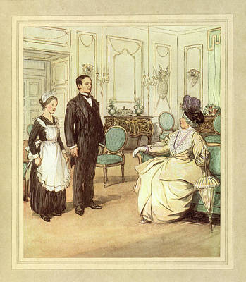 Butler And Maid Poster by British Library