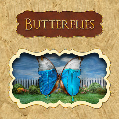Butterflies Button Poster by Mike Savad