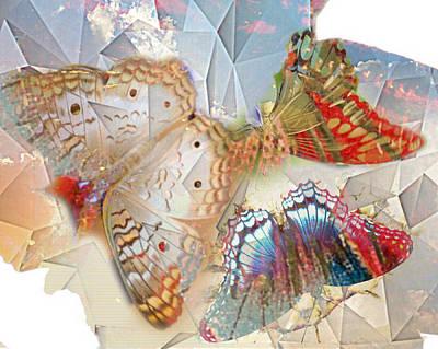 Butterflies Geometric 2 Poster