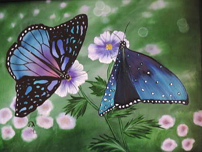 Poster featuring the painting Butterfly #2 by Dianna Lewis