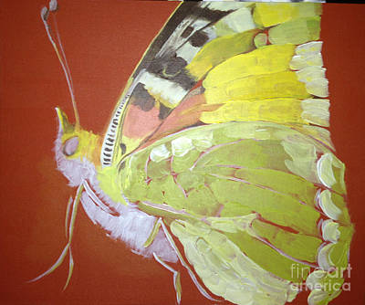 Poster featuring the painting Butterfly Basic In Work by Art Ina Pavelescu