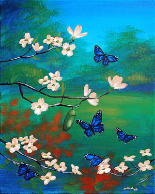 Butterfly Blue Poster