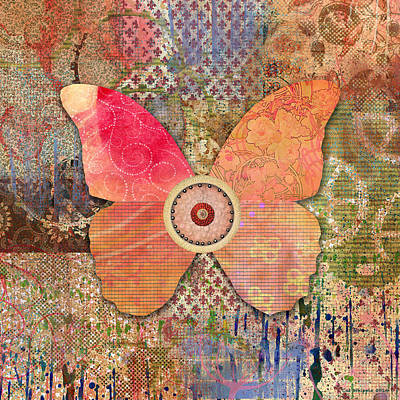 Butterfly Collage 1 Poster by Cat Whipple