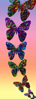 Poster featuring the photograph Butterfly Collage IIII by Robert Meanor