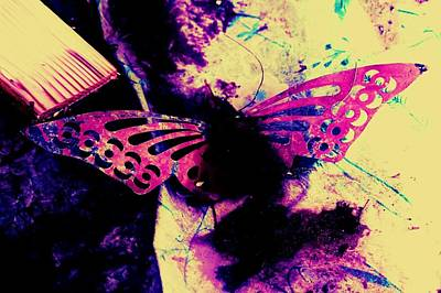 Poster featuring the photograph Butterfly Disintegration  by Jessica Shelton