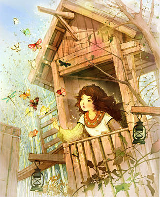 Butterfly Dream Poster by Cher Jiang