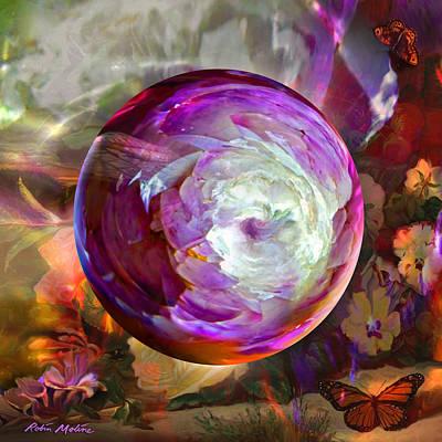 Butterfly Garden Globe Poster