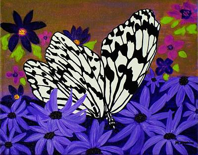 Poster featuring the painting Butterfly Heaven by Celeste Manning