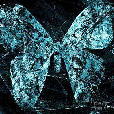 Butterfly In Abstract Dsc2977cy Square Poster by Wingsdomain Art and Photography