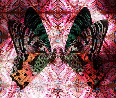 Poster featuring the digital art Butterfly Kaleidoscope by Kyle Hanson
