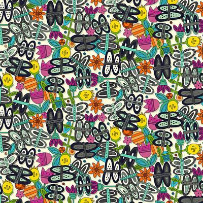 Butterfly Pop Garden Poster