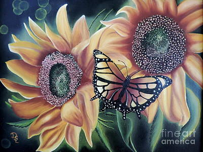 Poster featuring the painting Butterfly Series 5 by Dianna Lewis