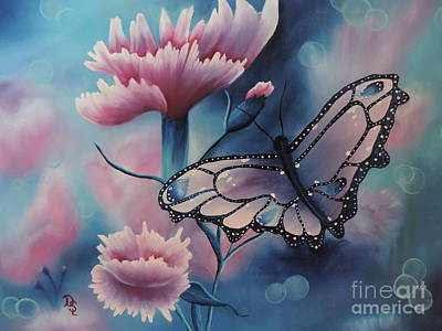 Poster featuring the painting Butterfly Series 6 by Dianna Lewis