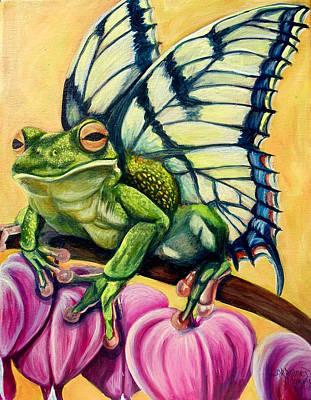 Butterfrog Poster by Lorraine Davis Martin