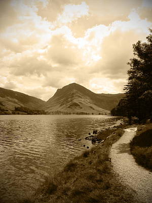 Buttermere Bright Sky Poster