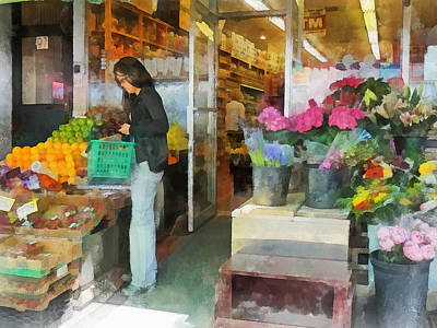 Buying Fresh Fruit Poster