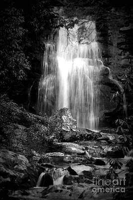 Bw Waterfall Poster