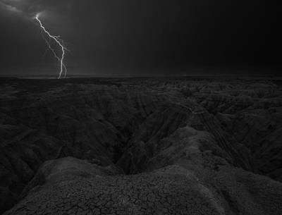 Bwcday5  Lightning Badlands  Poster by Aaron J Groen